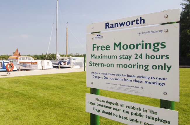 Ranworth 24hr mooring