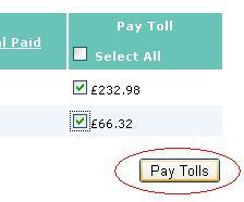 Pay tolls