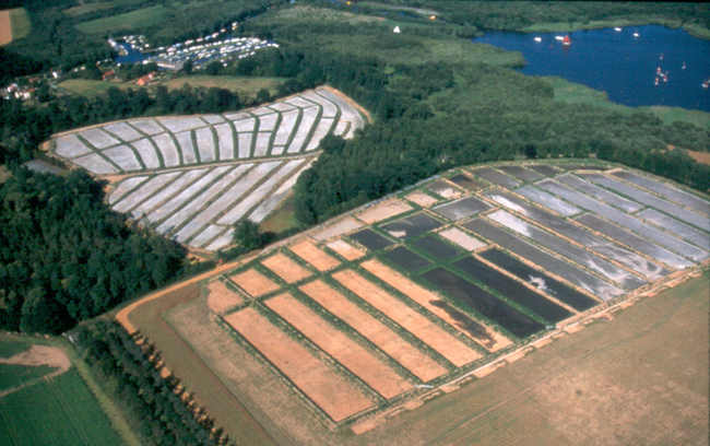 Nutrient enriched mud was pumped into lagoons on farmland adjacent to the broad.