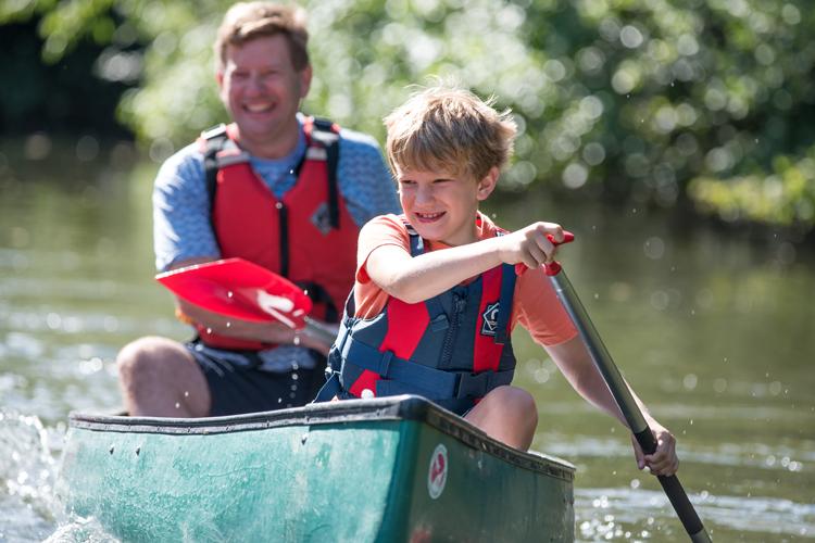 family fun canoeing