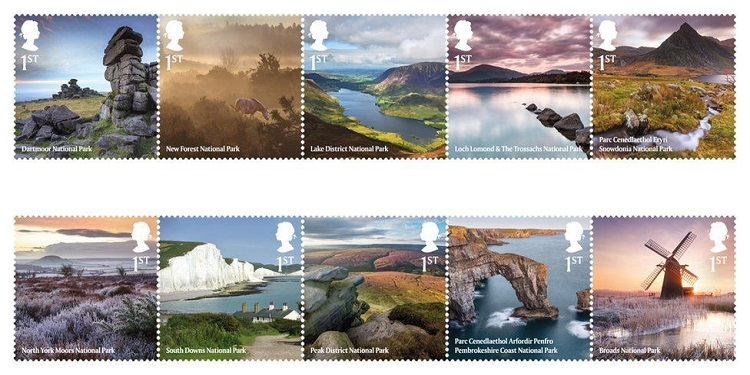 national park stamp collection