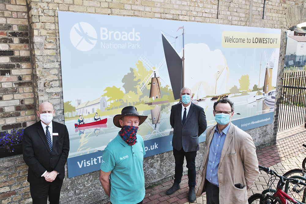 Broads National Park Mural at Lowestoft Train Station