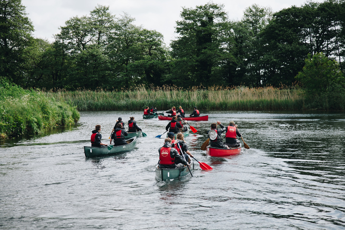 Canoe event on the River Waveney