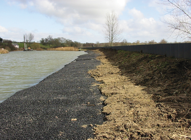 Bitumen matting erosion protection prior to vegetation establishment