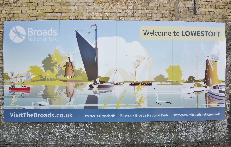 Broads National Park Mural at Lowestoft Train Station