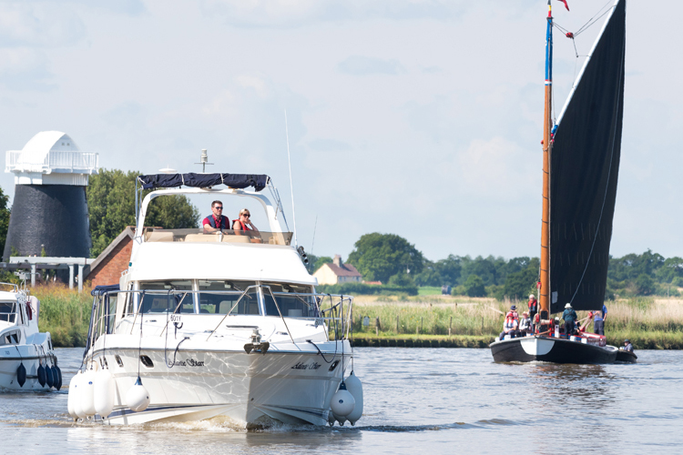 Cruising on the Broads © James Bass