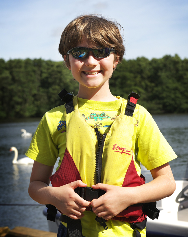 Boy in life jacket