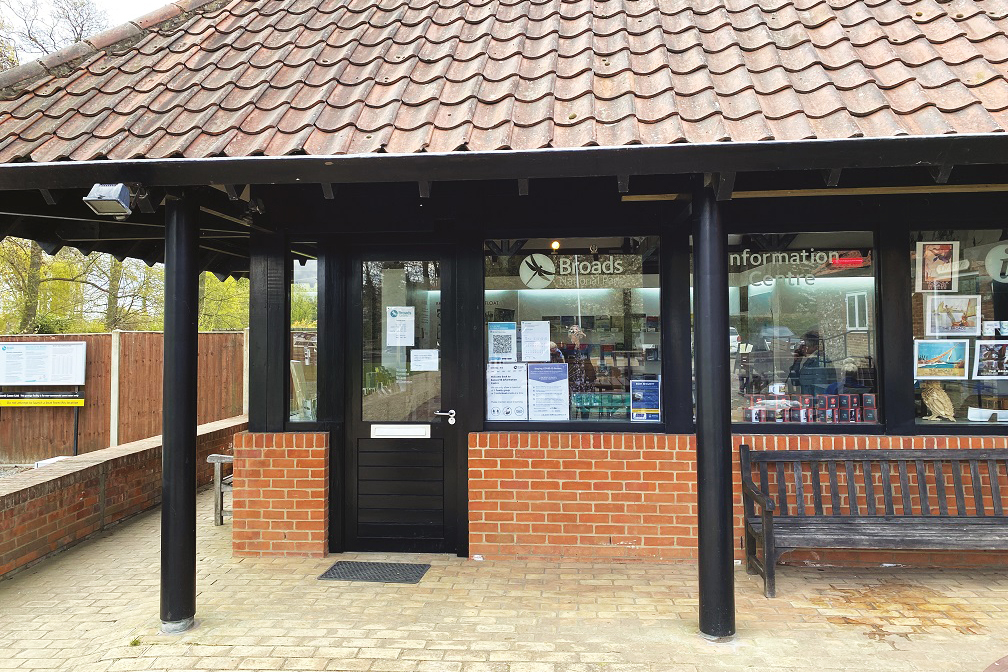 Outside Ranworth Info Centre Broads Authority