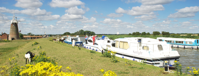 Moorings at Thurne