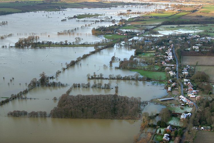 Flooding aerial © mike page