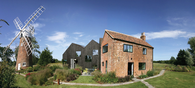 Hunsett Mill and the award-winning cottage extension